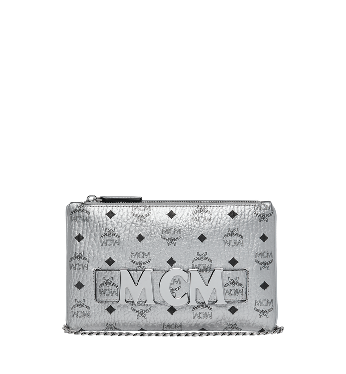 MCM Trilogie Stark Backpack in Visetos Silver MMK9SVE75SB001 Alternate View 6