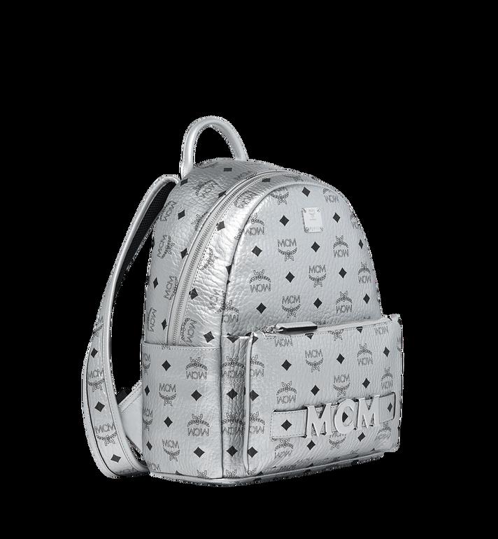 MCM Trilogie Stark Backpack in Visetos Silver MMK9SVE87SB001 Alternate View 2