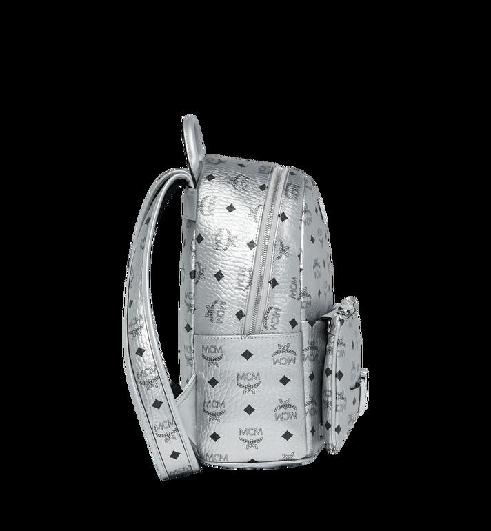 MCM Trilogie Stark Backpack in Visetos Silver MMK9SVE87SB001 Alternate View 3