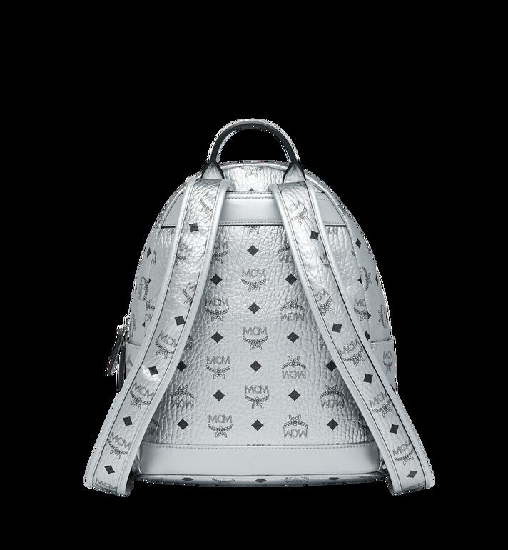 MCM Trilogie Stark Backpack in Visetos Silver MMK9SVE87SB001 Alternate View 4