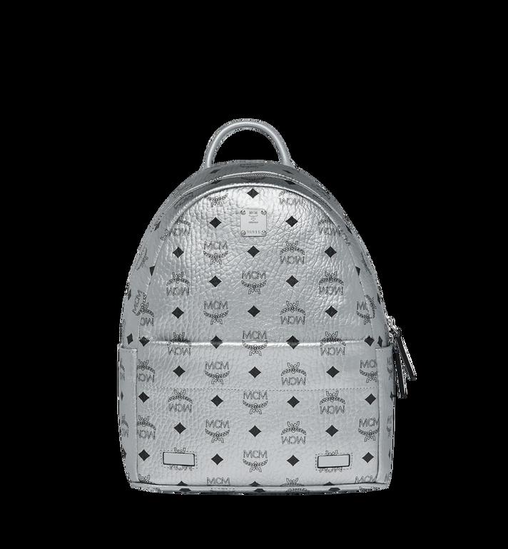 MCM Trilogie Stark Backpack in Visetos Silver MMK9SVE87SB001 Alternate View 5