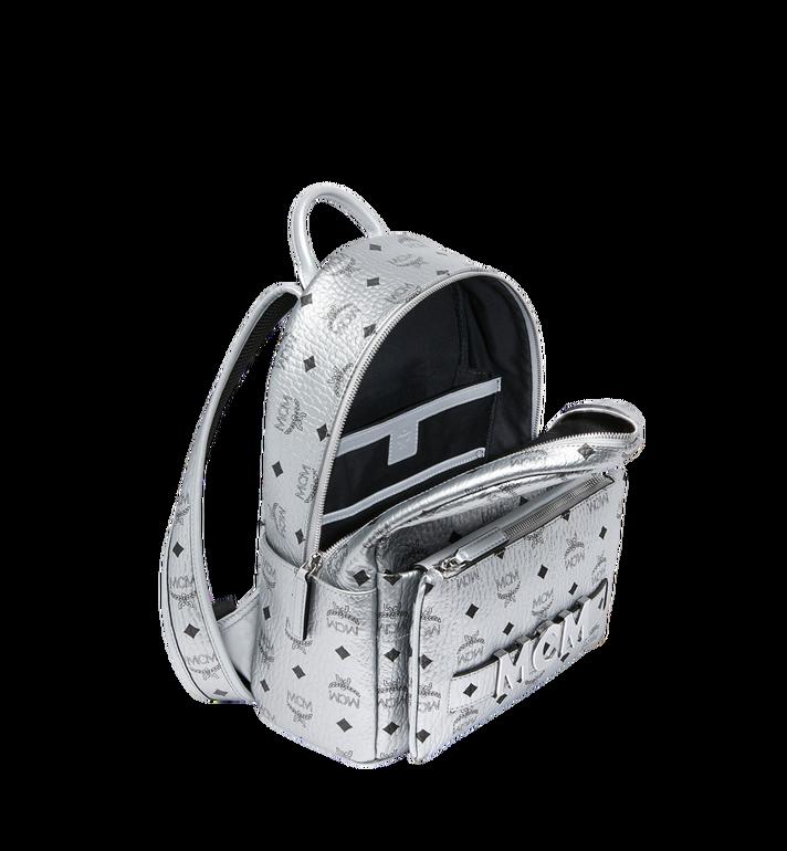 MCM Trilogie Stark Backpack in Visetos Silver MMK9SVE87SB001 Alternate View 7