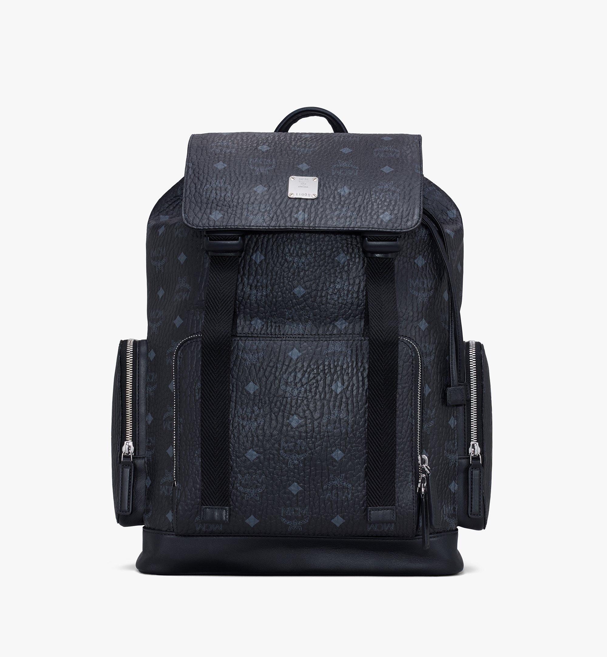 MCM Brandenburg Backpack in Visetos Black MMKAABG02BK001 Alternate View 1