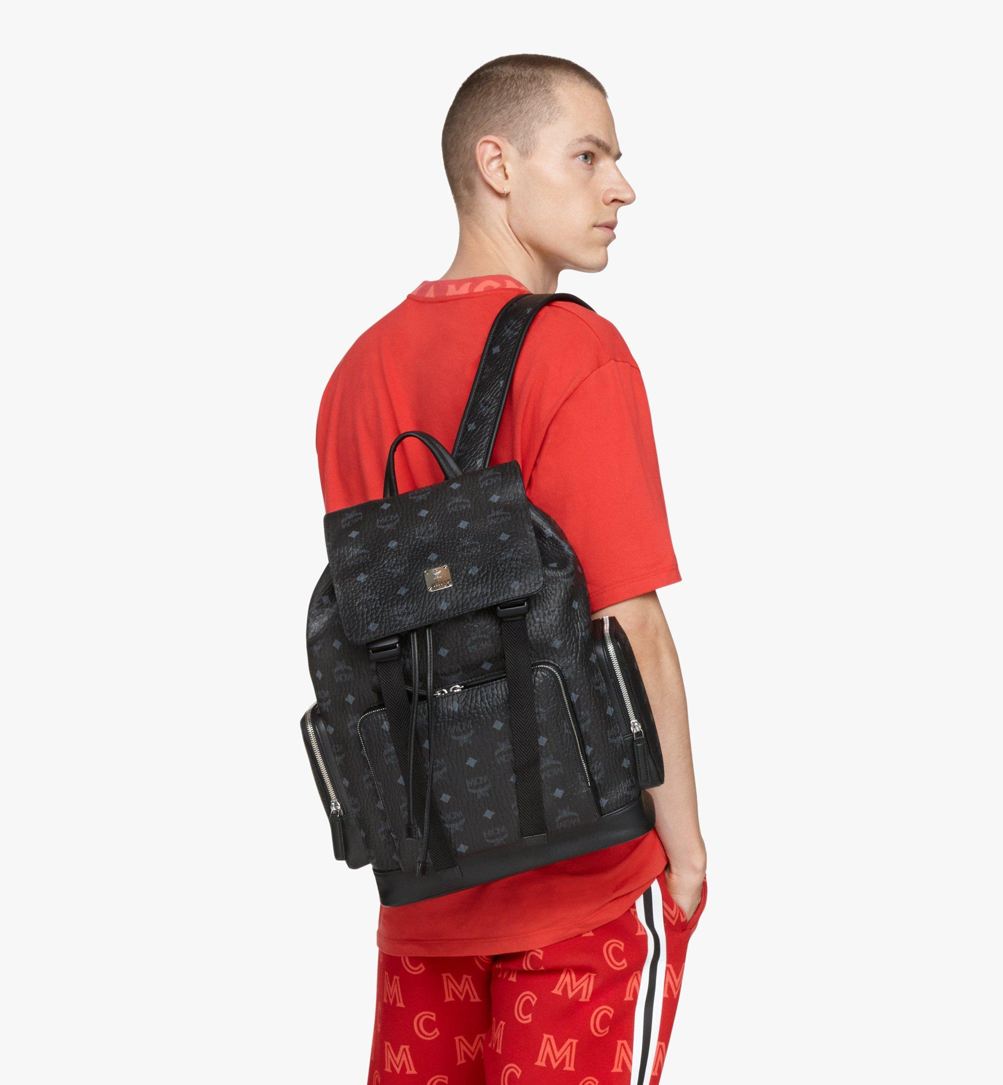MCM Brandenburg Backpack in Visetos Black MMKAABG02BK001 Alternate View 2