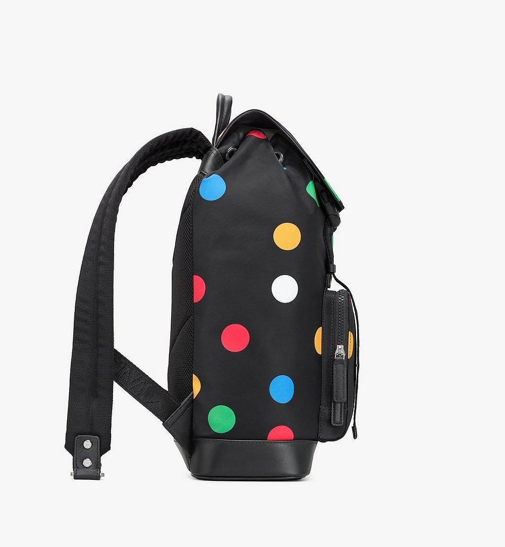 MCM Brandenburg Backpack in Polka Dot Nylon Black MMKAABG03BK001 Alternate View 1
