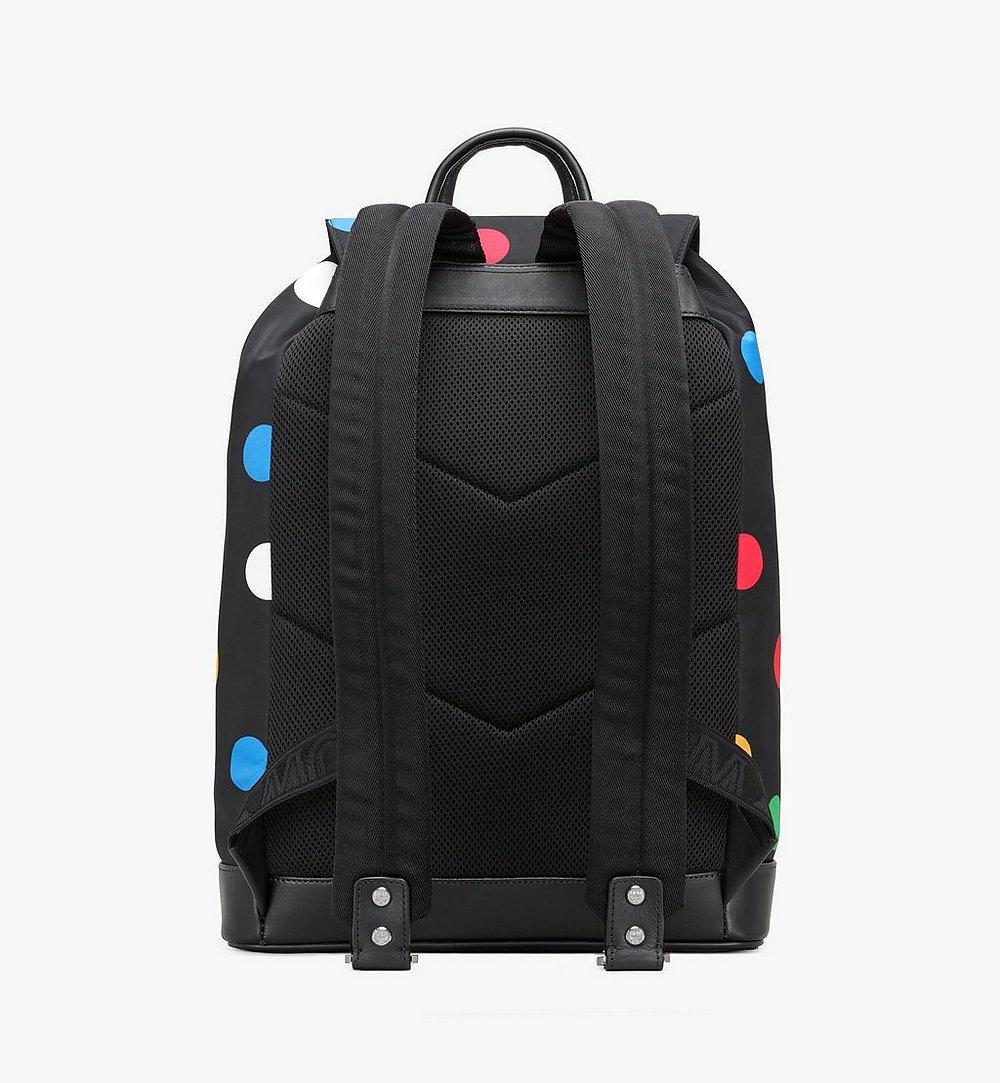 MCM Brandenburg Backpack in Polka Dot Nylon Black MMKAABG03BK001 Alternate View 3