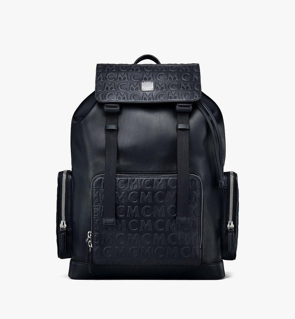 MCM Brandenburg Backpack in MCM Monogram Leather Black MMKAABG04BK001 Alternate View 1