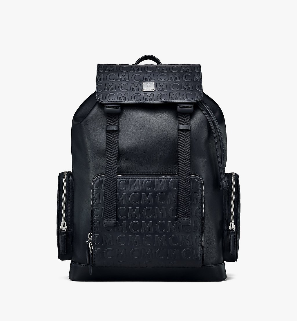 MCM Brandenburg Backpack in MCM Monogram Leather Black MMKAABG04BK001 Alternate View 1