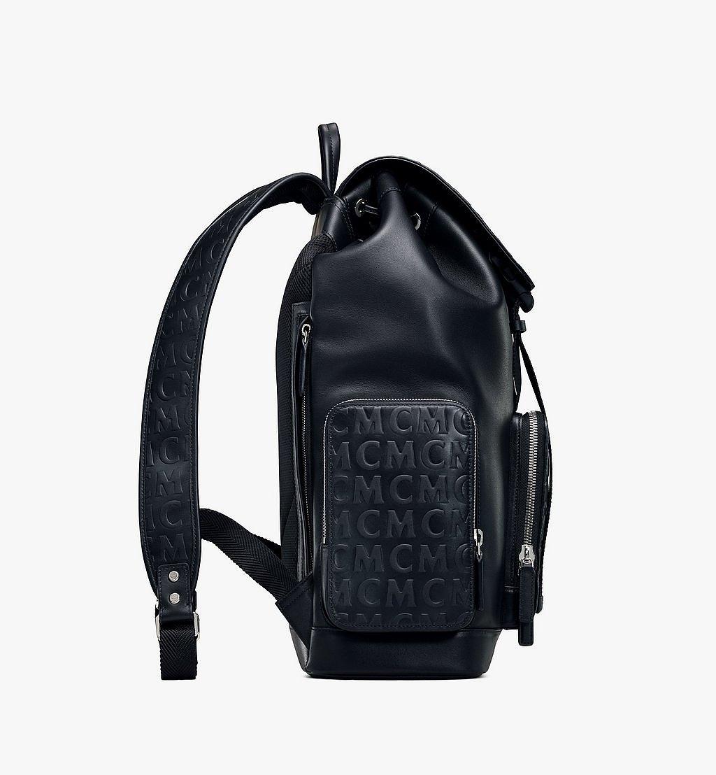 MCM Brandenburg Rucksack aus Leder mit MCM-Monogramm Black MMKAABG04BK001 Noch mehr sehen 1