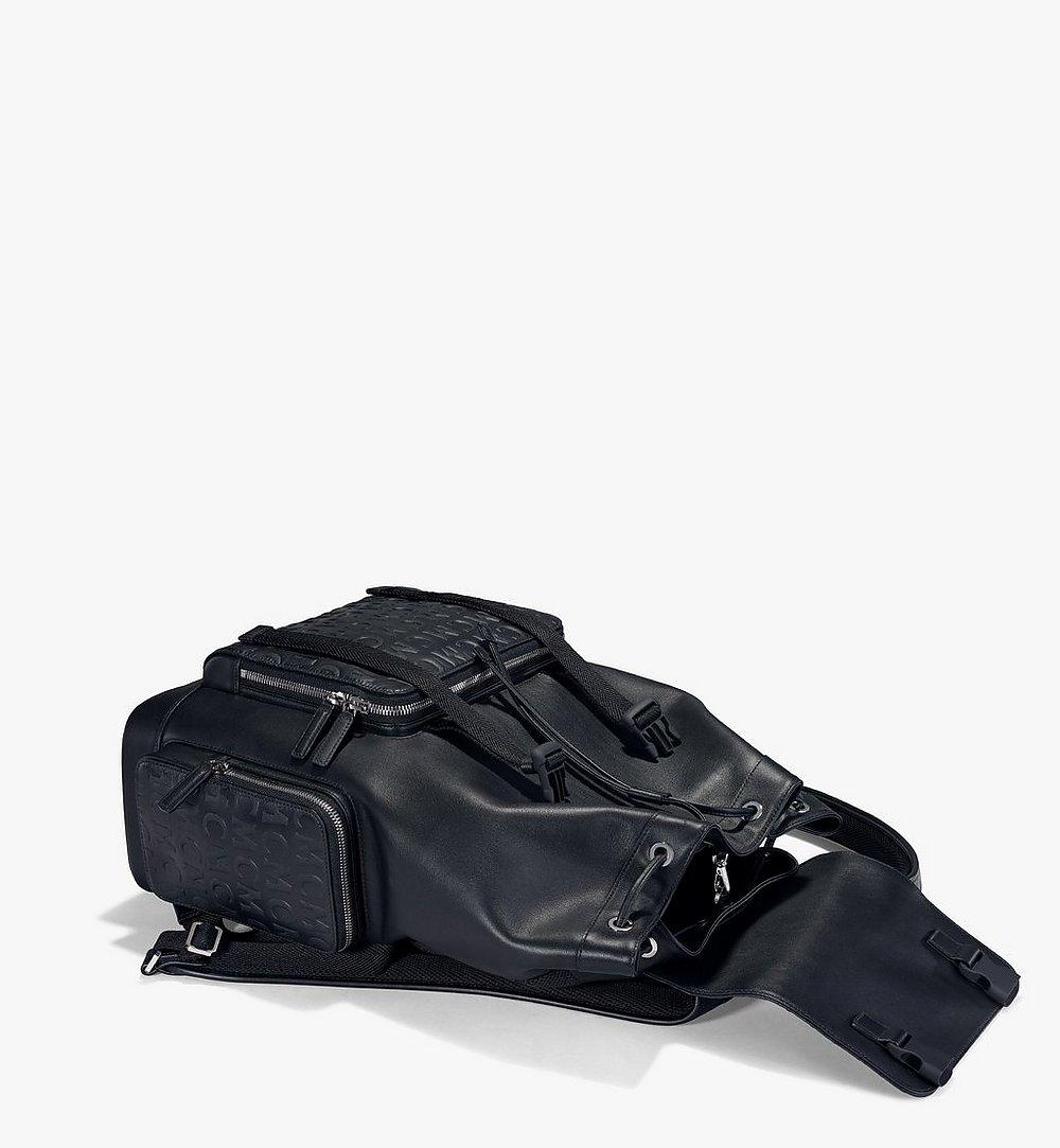MCM Brandenburg Backpack in MCM Monogram Leather Black MMKAABG04BK001 Alternate View 2