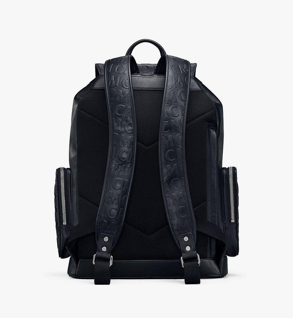 MCM Brandenburg Backpack in MCM Monogram Leather Black MMKAABG04BK001 Alternate View 3