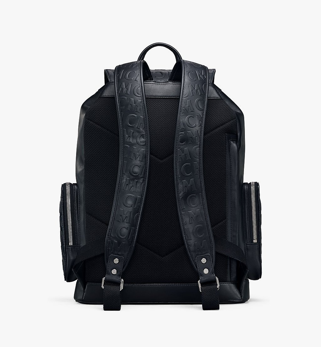 MCM Brandenburg Backpack in MCM Monogram Leather Black MMKAABG04BK001 Alternate View 3