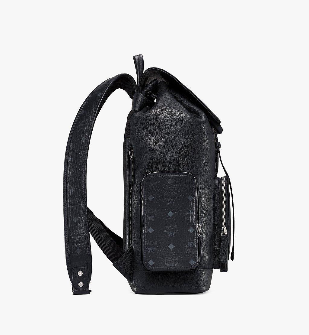 MCM Brandenburg Rucksack mit Lederblock-Visetos Black MMKAABG05BK001 Noch mehr sehen 1