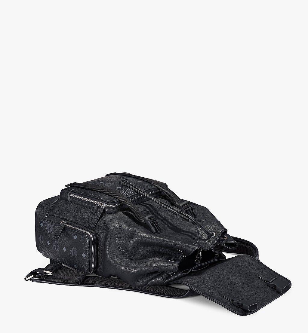 MCM Brandenburg Rucksack mit Lederblock-Visetos Black MMKAABG05BK001 Noch mehr sehen 2