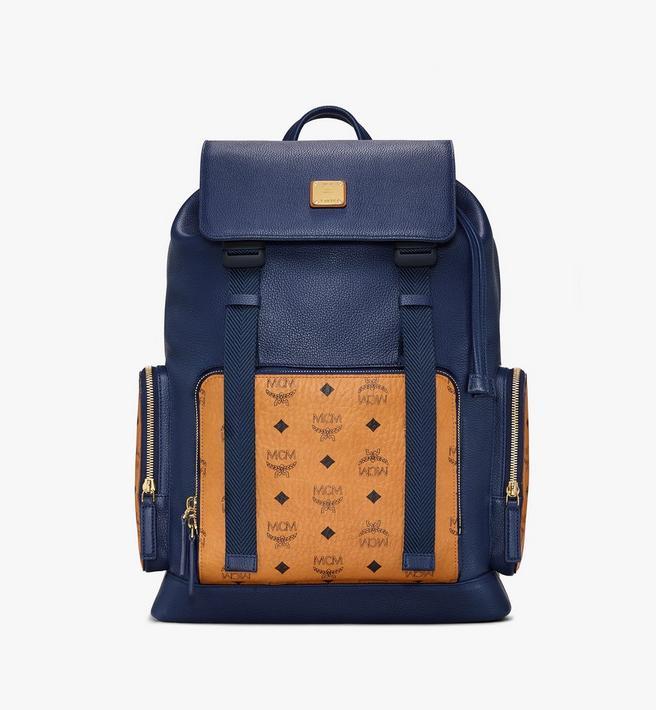 MCM Brandenburg Backpack in Visetos Leather Block Alternate View