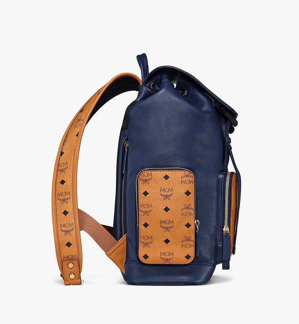 MCM Brandenburg Backpack in Visetos Leather Block Cognac MMKAABG05VU001 Alternate View 1