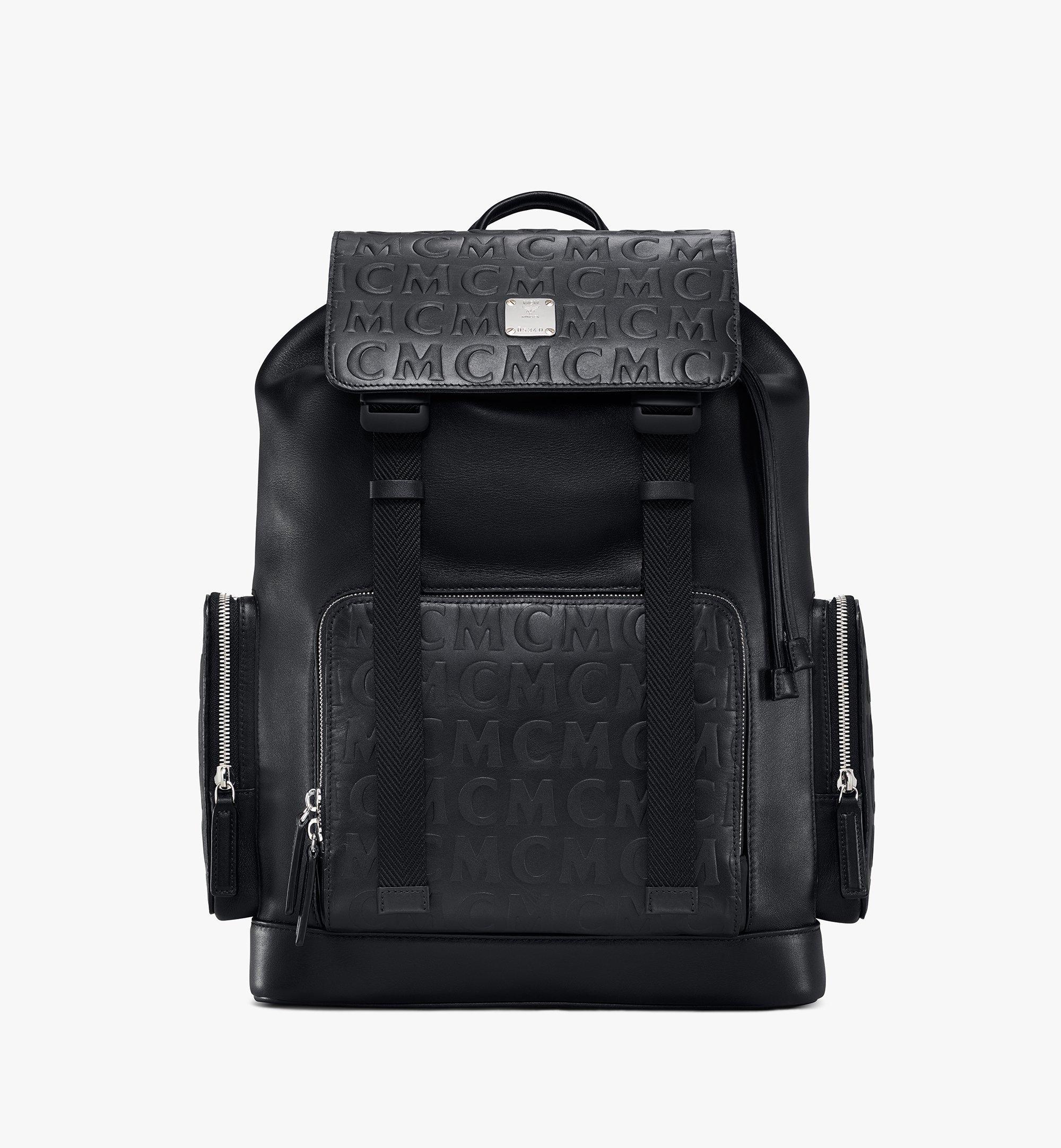 MCM Brandenburg Backpack in MCM Monogram Leather Black MMKAABG06BK001 Alternate View 1