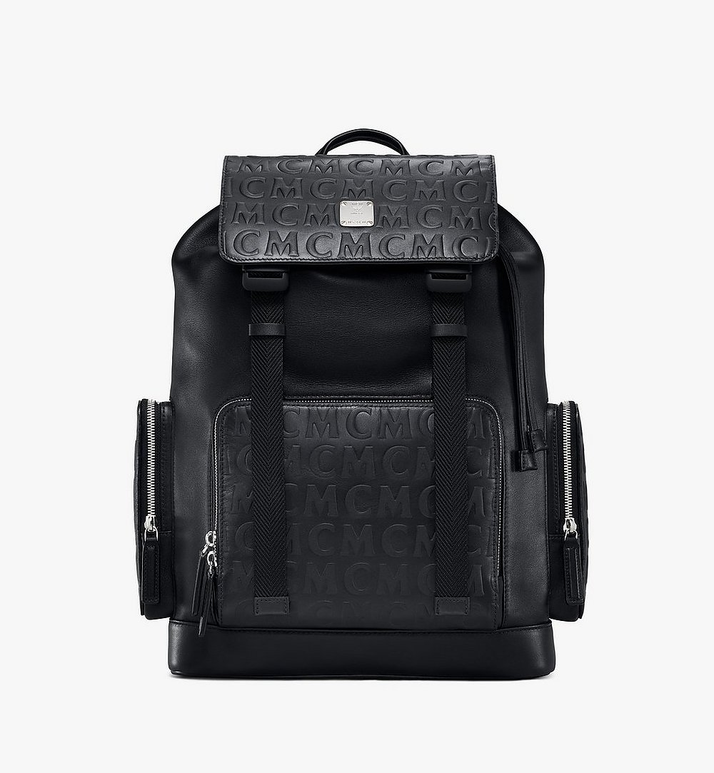 MCM Brandenburg Backpack in MCM Monogram Leather Black MMKAABG06BK001 Alternate View 1
