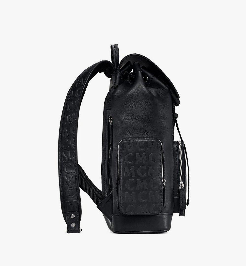 MCM Brandenburg Rucksack aus Leder mit MCM-Monogramm Black MMKAABG06BK001 Noch mehr sehen 1