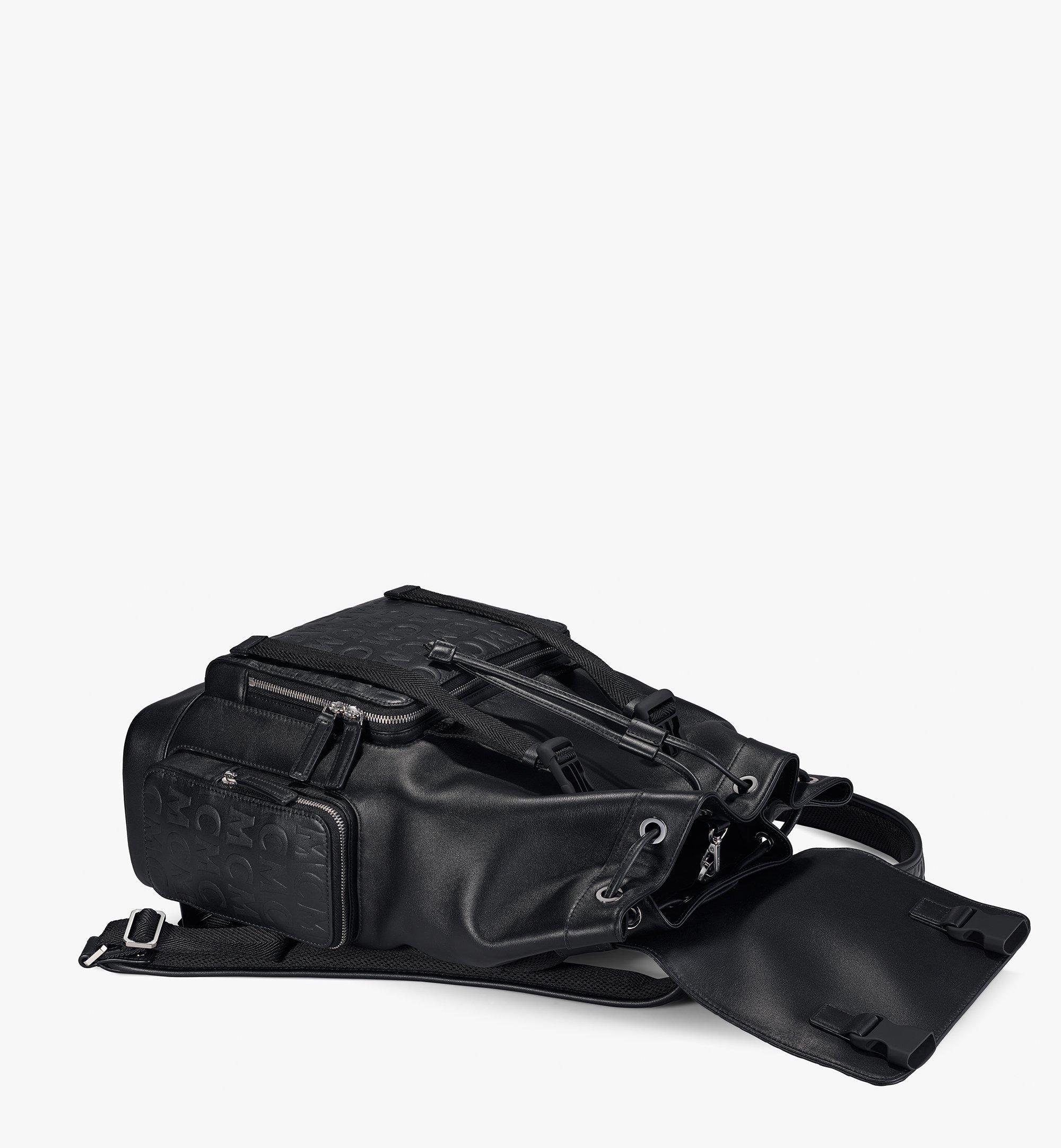 MCM Brandenburg Backpack in MCM Monogram Leather Black MMKAABG06BK001 Alternate View 2