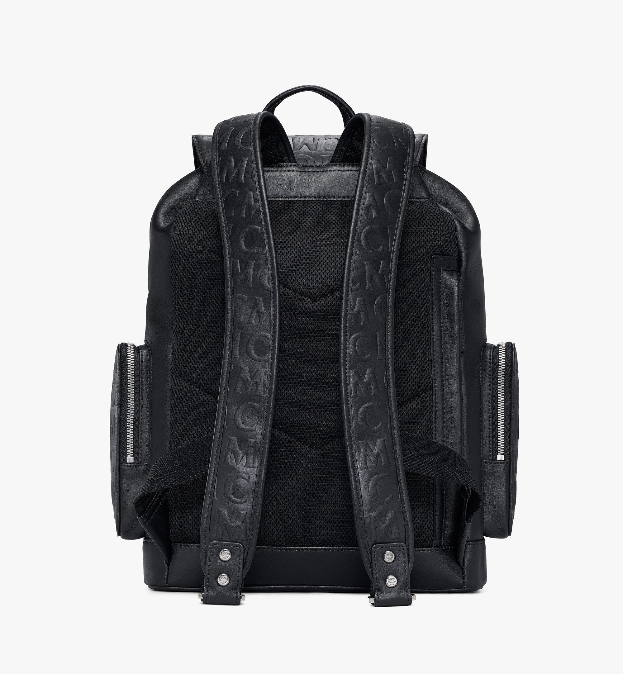 MCM Brandenburg Backpack in MCM Monogram Leather Black MMKAABG06BK001 Alternate View 3