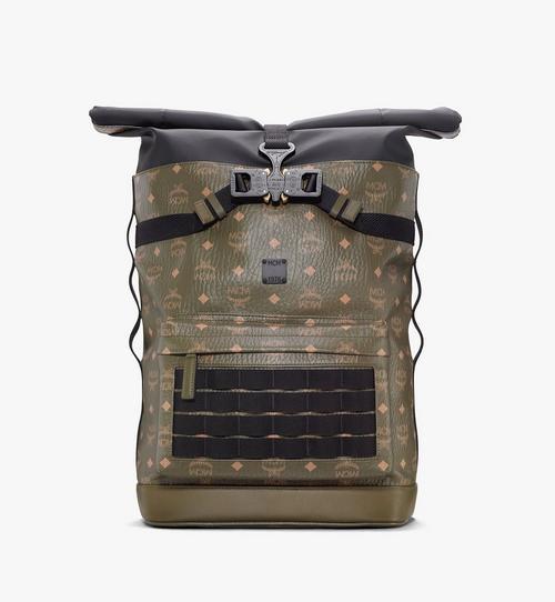 Roll-Top Backpack in Visetos