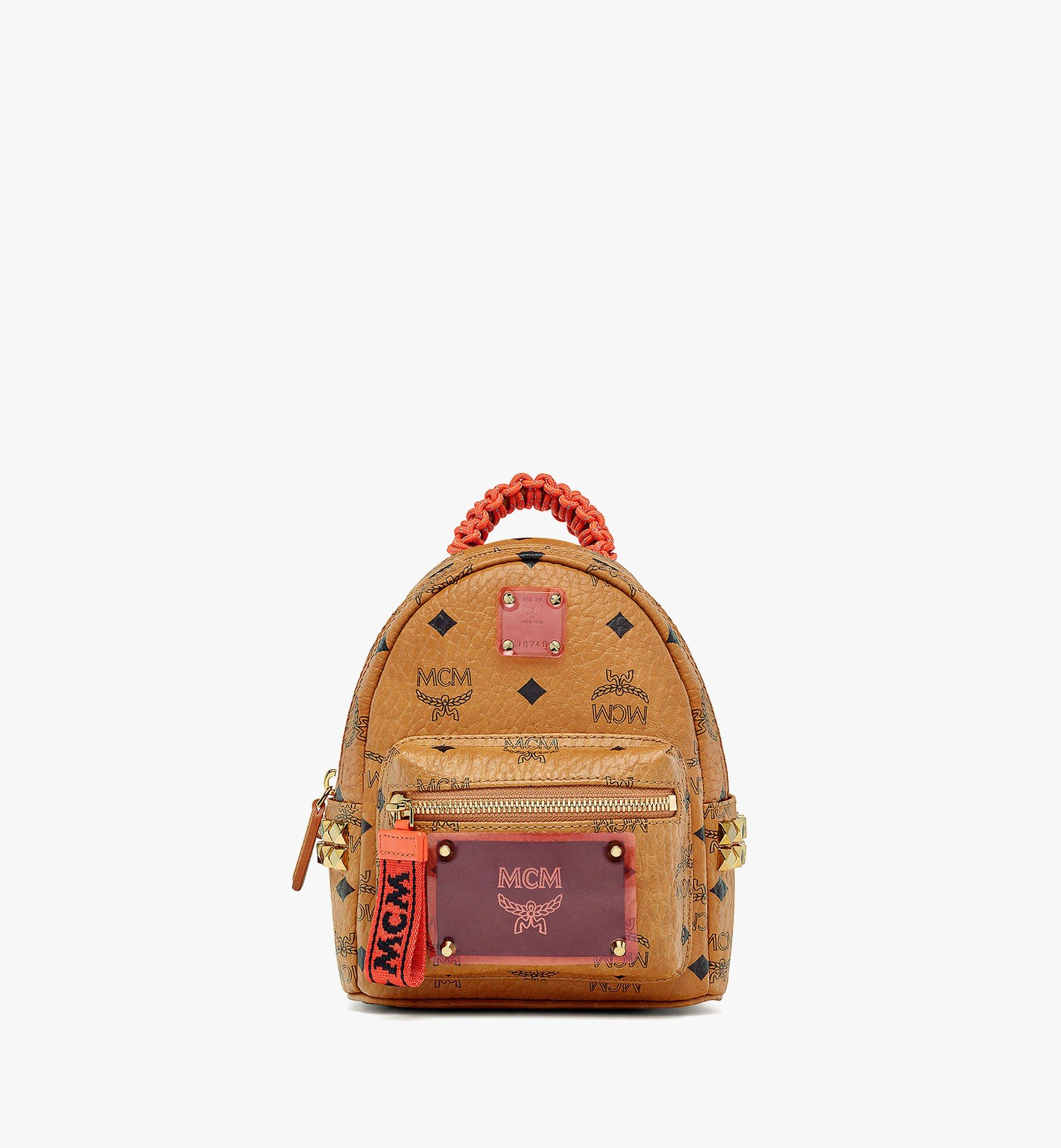 MCM Upcycling Project Stark Bebe Boo Backpack in Visetos Cognac MMKAAUP01CO001 Alternate View 1