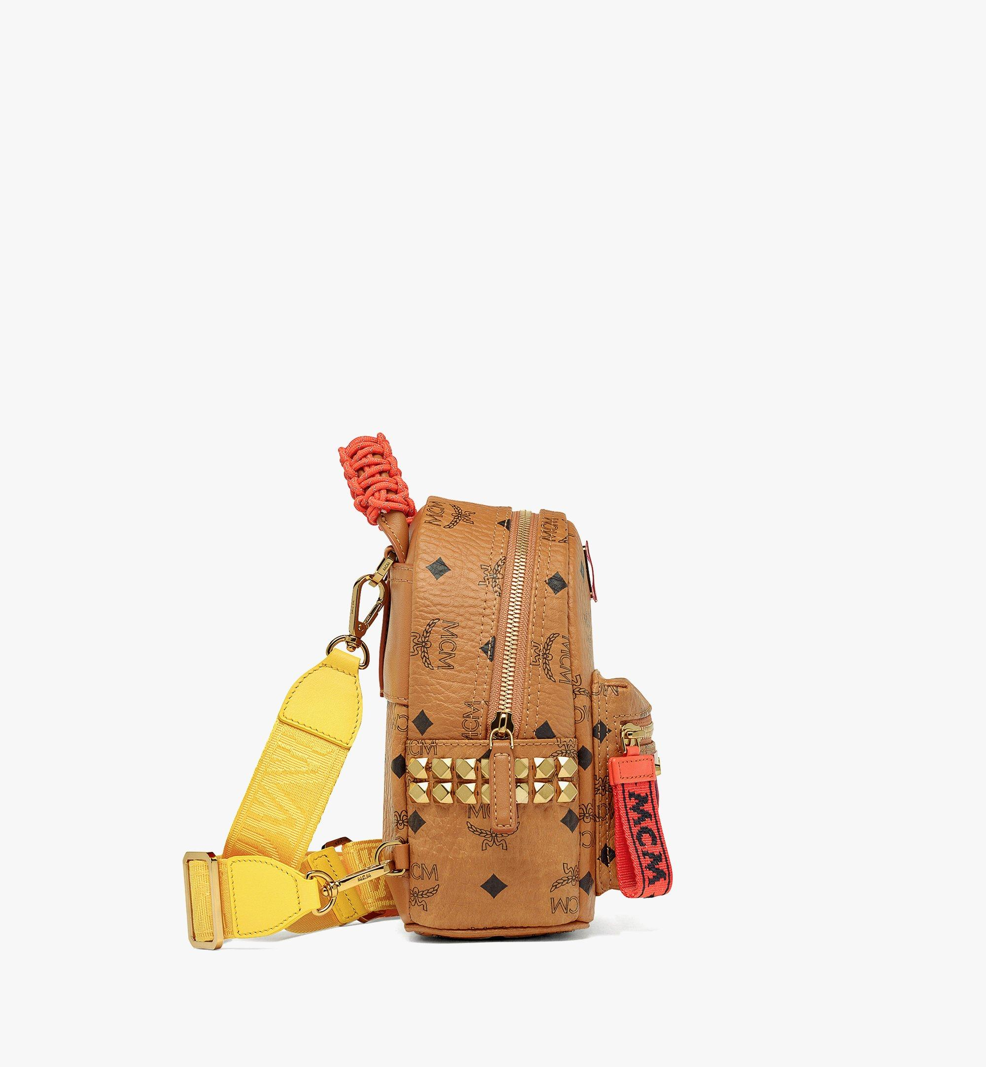 MCM Upcycling Project Stark Bebe Boo Backpack in Visetos Cognac MMKAAUP01CO001 Alternate View 5