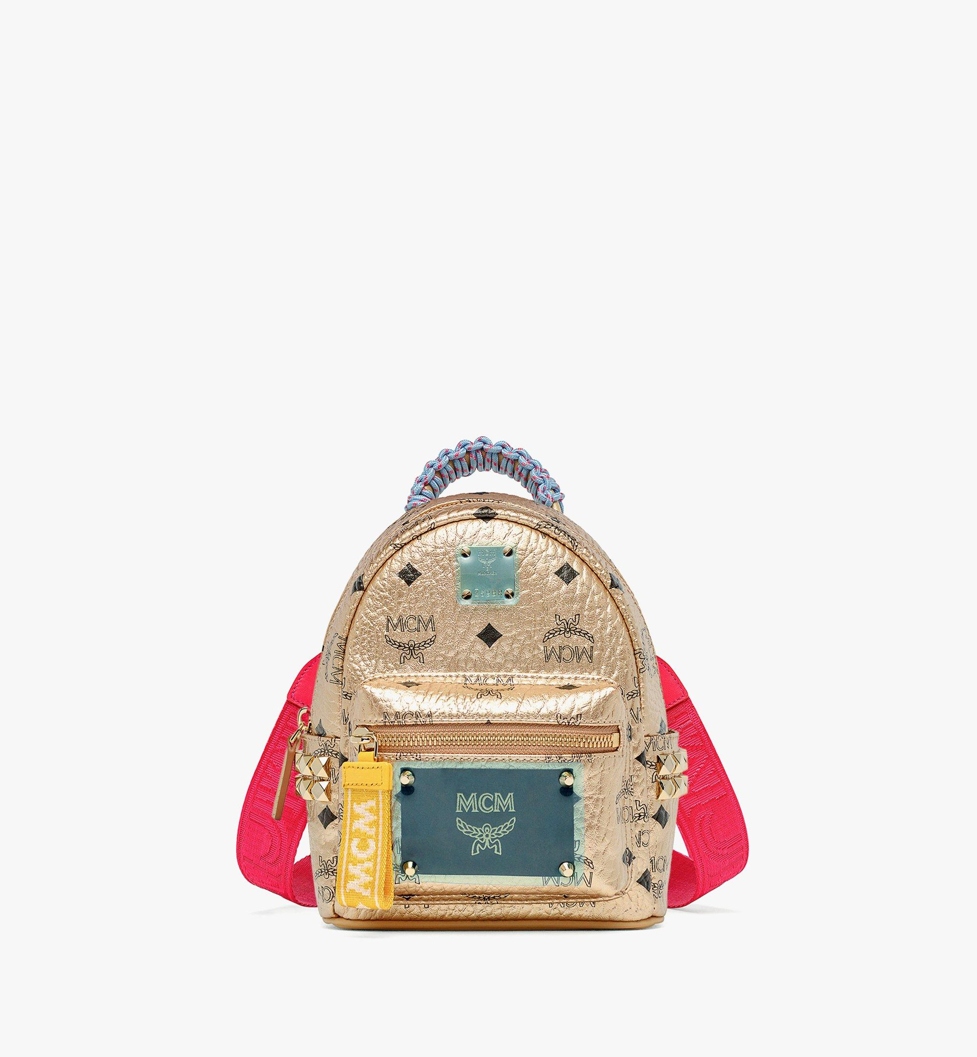 MCM Upcycling Project Stark Bebe Boo Backpack in Visetos Gold MMKAAUP02T1001 Alternate View 4