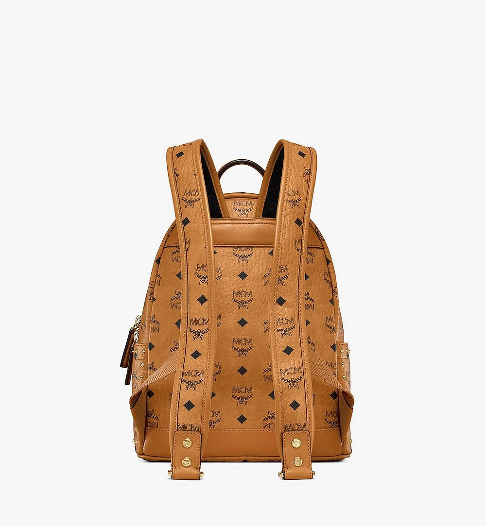MCM Stark Backpack in Studded Outline Visetos Cognac MMKAAVE01CO001 Alternate View 3