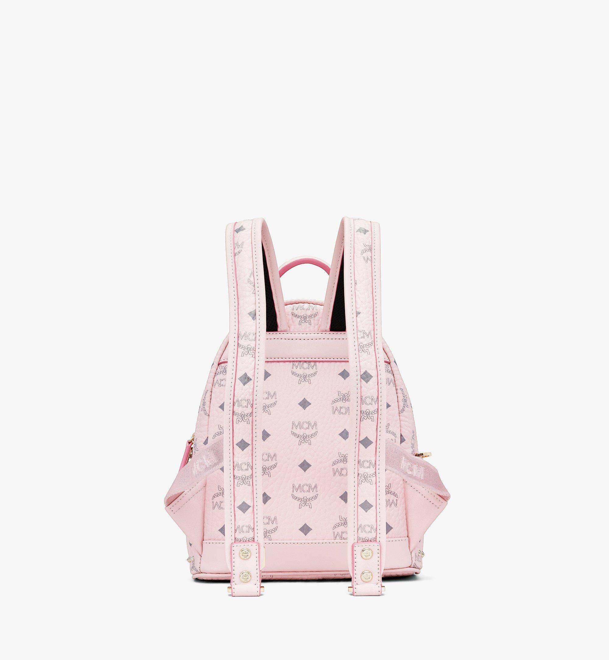 MCM Stark Backpack in Studded Outline Visetos Pink MMKAAVE03QH001 Alternate View 2