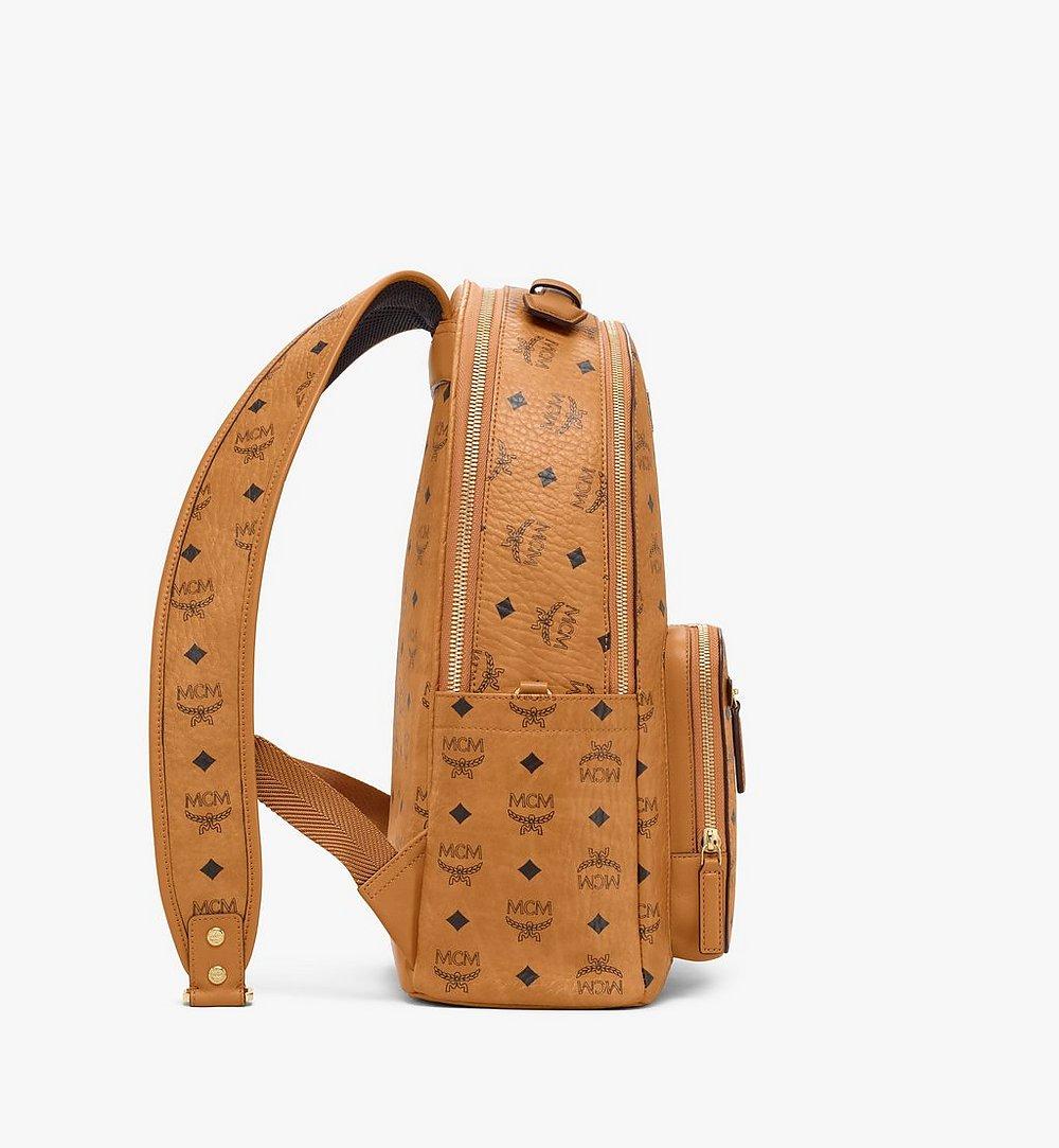 MCM Stark Backpack in Visetos Cognac MMKAAVE07CO001 Alternate View 1