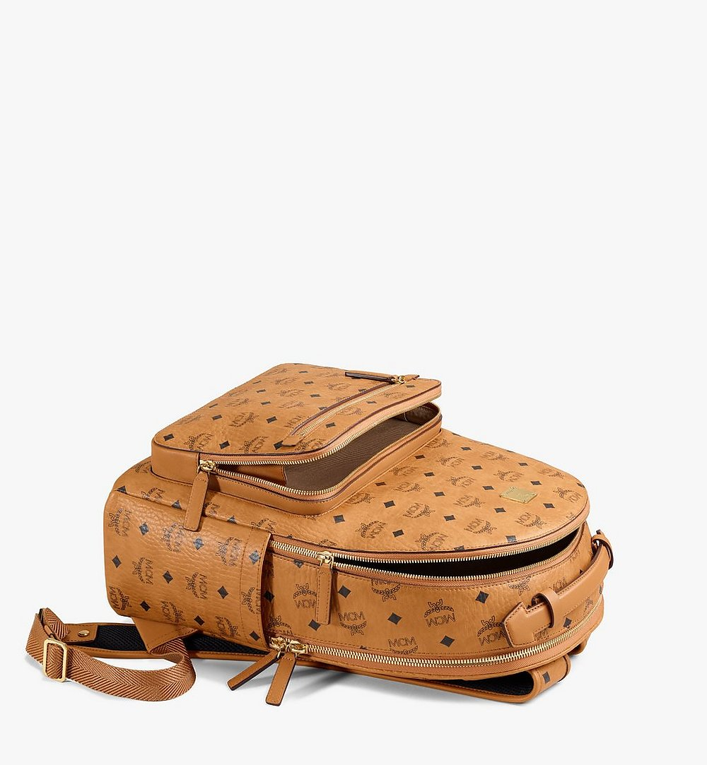 MCM Stark Backpack in Visetos Cognac MMKAAVE07CO001 Alternate View 2