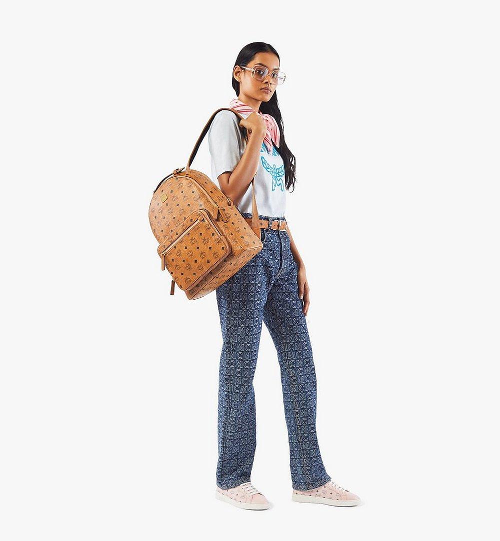 MCM Stark Backpack in Visetos Cognac MMKAAVE07CO001 Alternate View 4