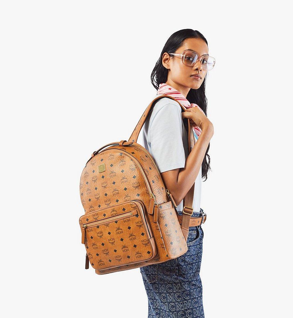 MCM Stark Backpack in Visetos Cognac MMKAAVE07CO001 Alternate View 6