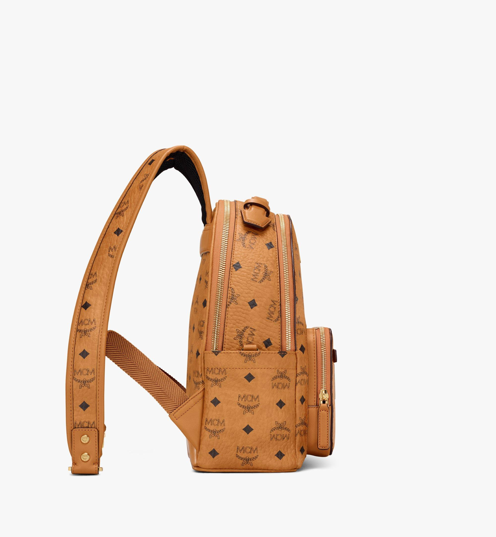 MCM Stark Backpack in Visetos Cognac MMKAAVE08CO001 Alternate View 1
