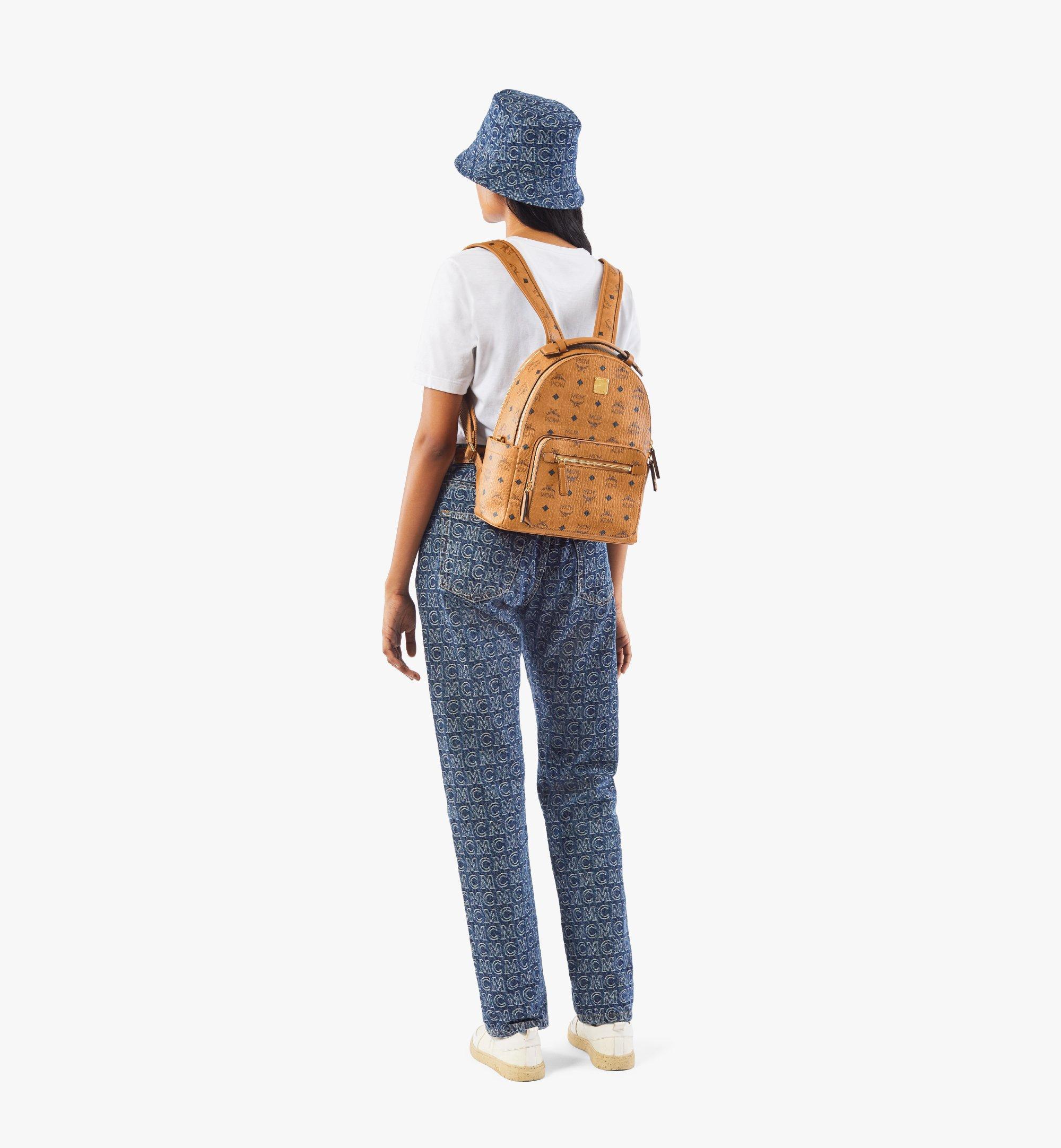 MCM Stark Backpack in Visetos Cognac MMKAAVE08CO001 Alternate View 3