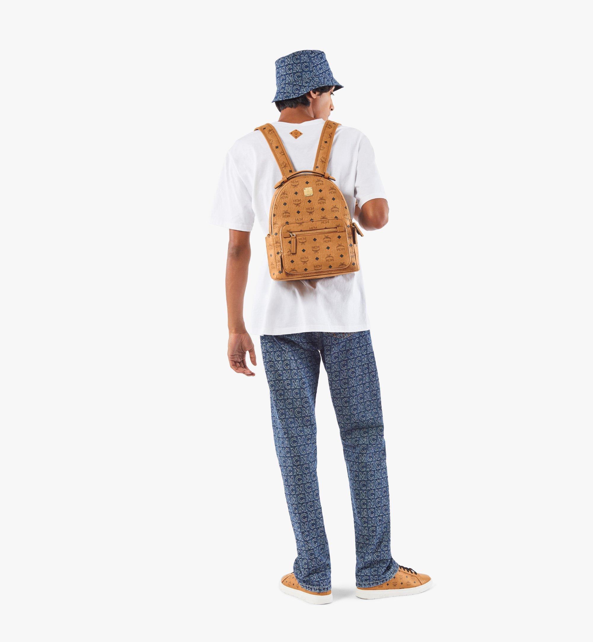 MCM Stark Backpack in Visetos Cognac MMKAAVE08CO001 Alternate View 5