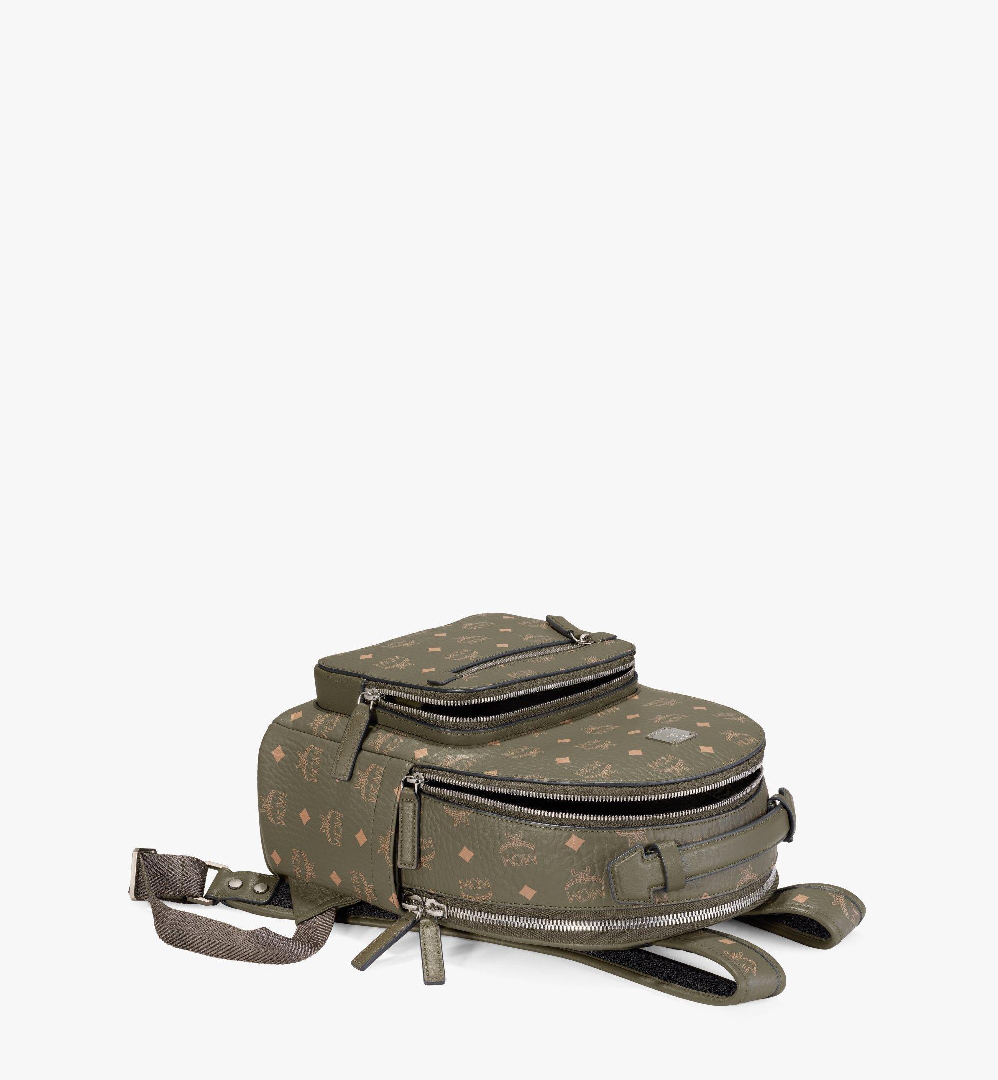 MCM Stark Backpack in Visetos Green MMKAAVE08JH001 Alternate View 2