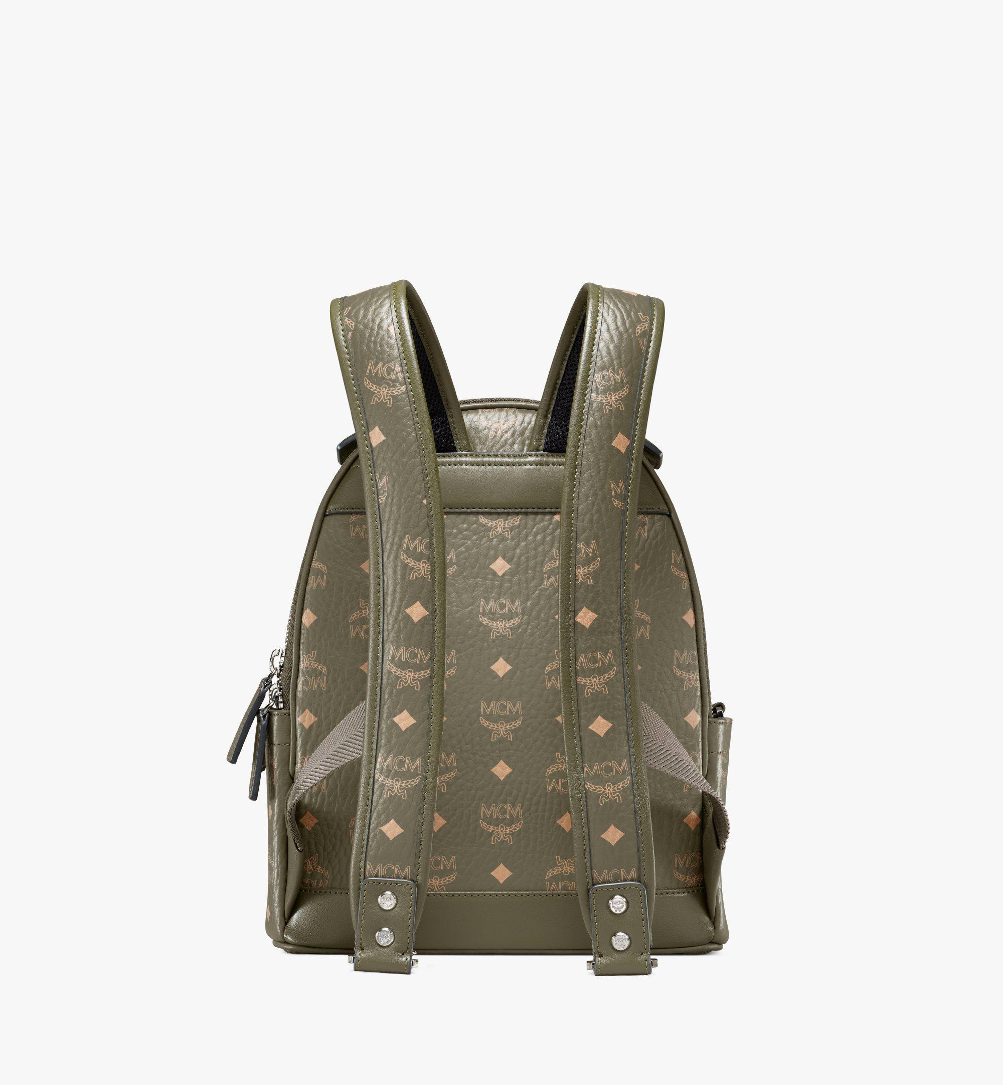 MCM Stark Backpack in Visetos Green MMKAAVE08JH001 Alternate View 3
