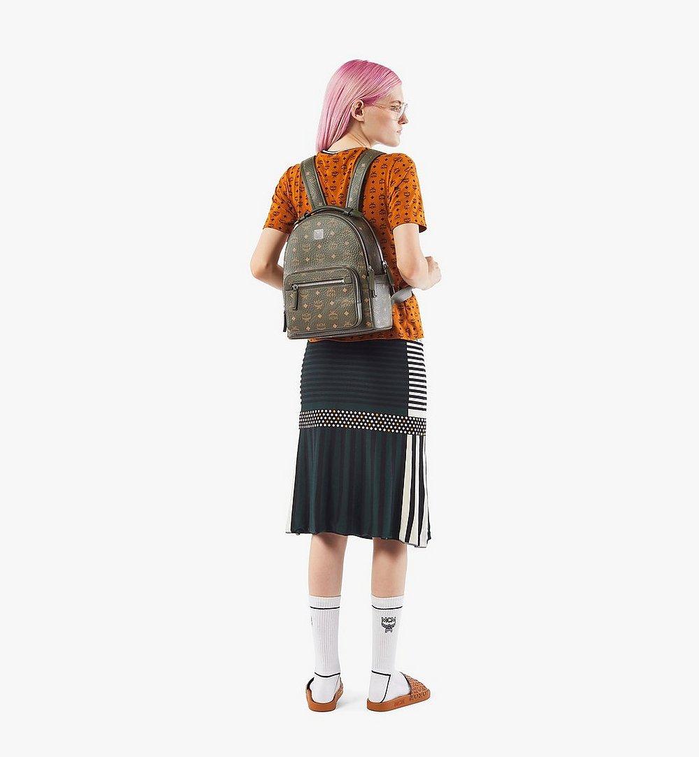 MCM Stark Backpack in Visetos Green MMKAAVE08JH001 Alternate View 5