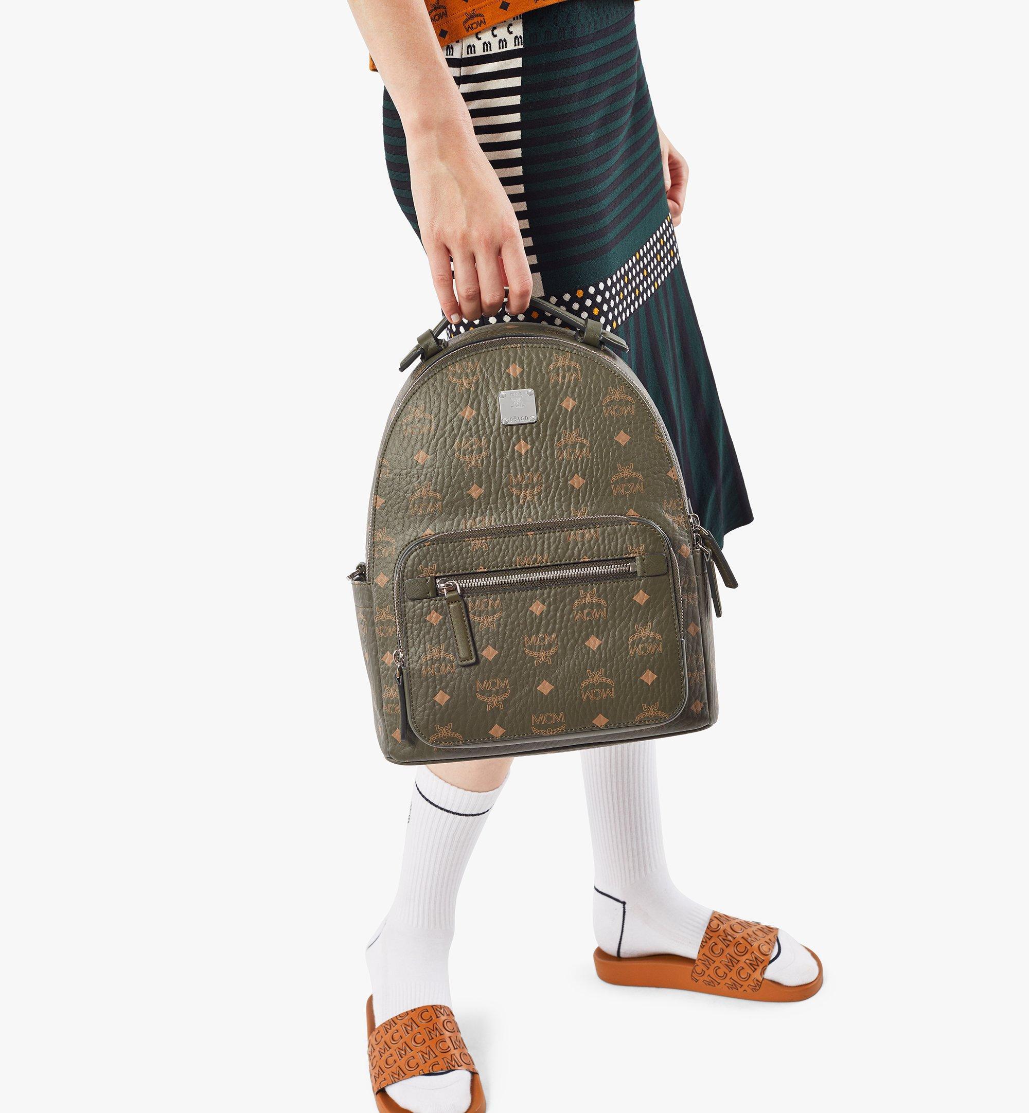 MCM Stark Backpack in Visetos Green MMKAAVE08JH001 Alternate View 6