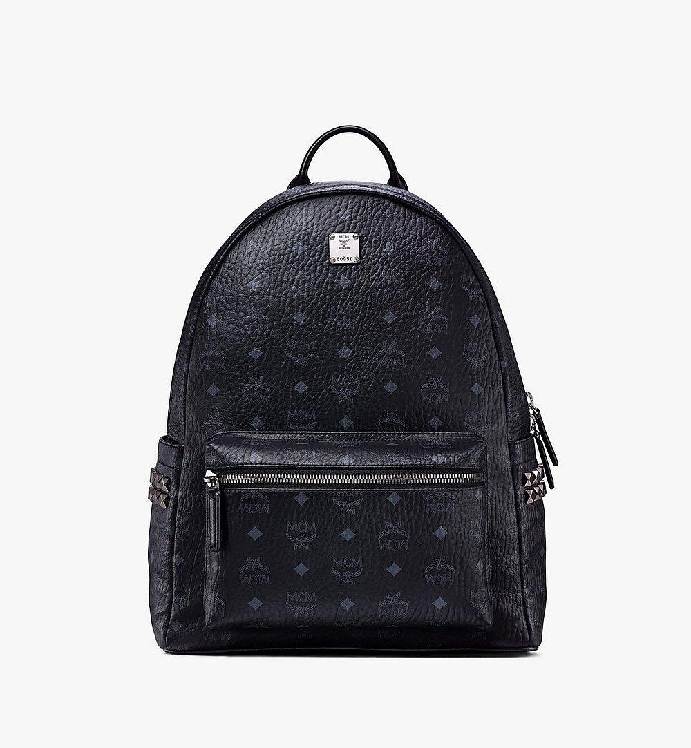 MCM Stark Side Studs Backpack in Visetos Black MMKAAVE09BK001 Alternate View 1