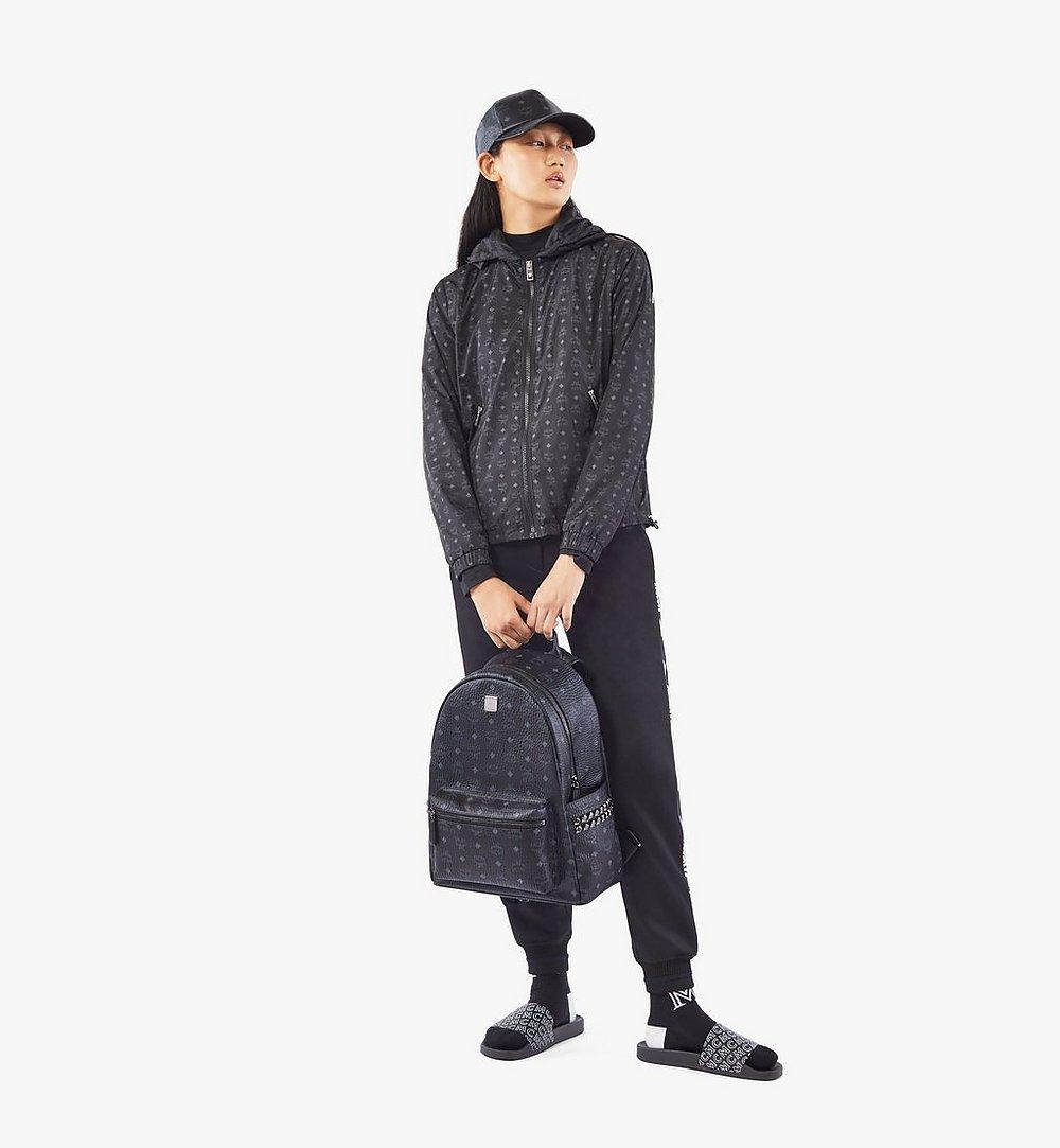 MCM Stark Side Studs Backpack in Visetos Black MMKAAVE09BK001 Alternate View 6