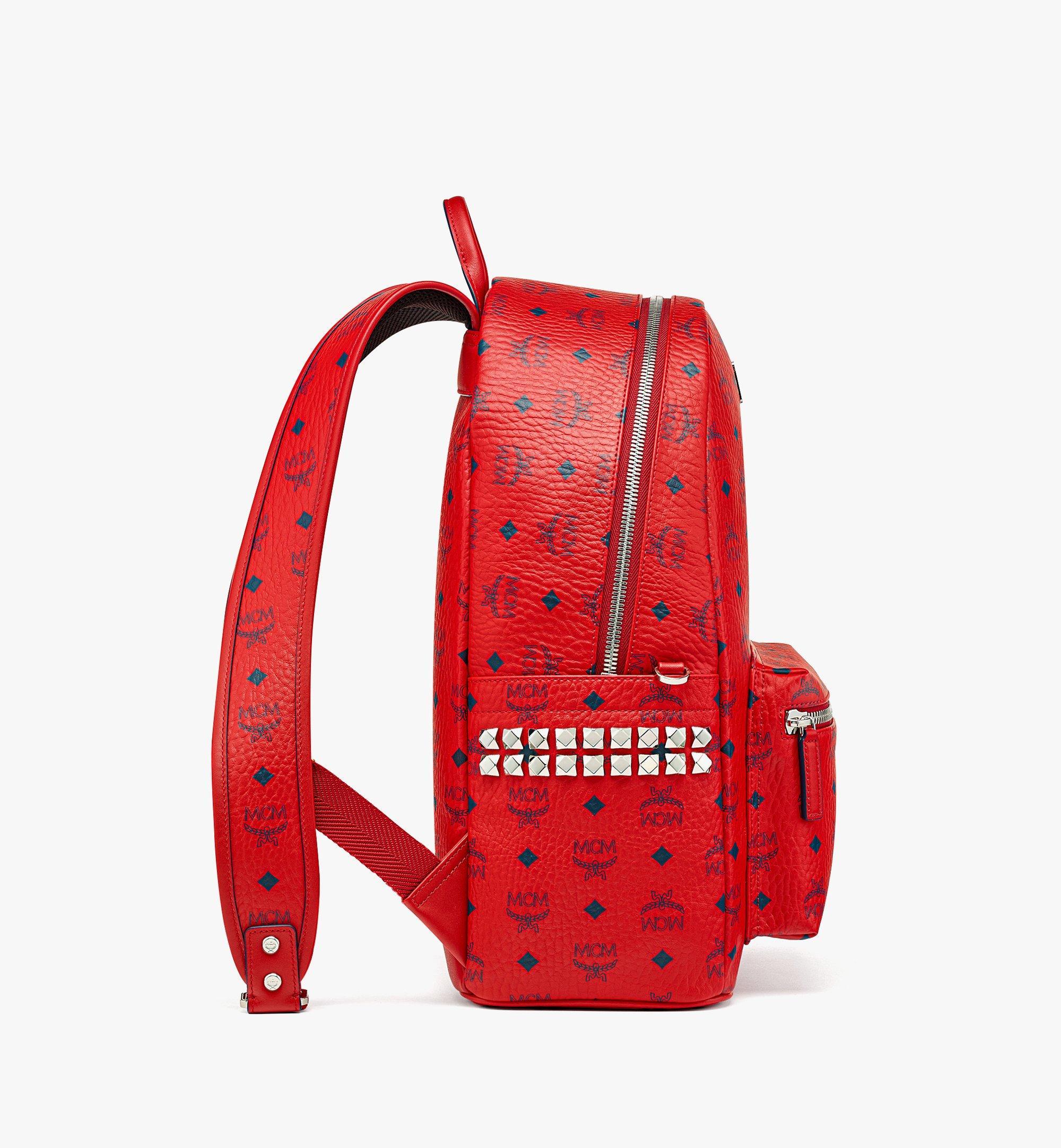 MCM Stark Side Studs Backpack in Visetos  MMKAAVE09XC001 Alternate View 1