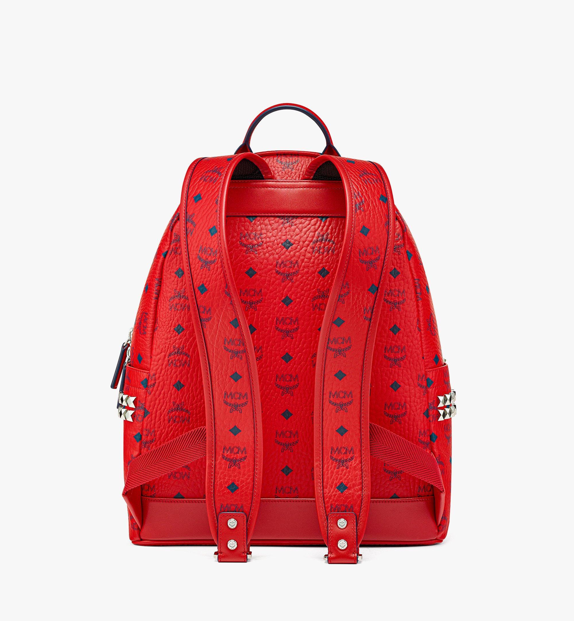 MCM Stark Side Studs Backpack in Visetos  MMKAAVE09XC001 Alternate View 3