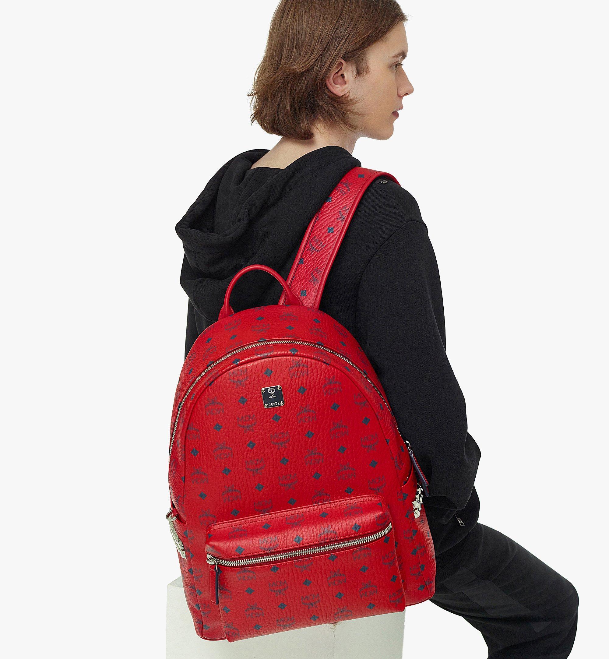 MCM Stark Side Studs Backpack in Visetos  MMKAAVE09XC001 Alternate View 2