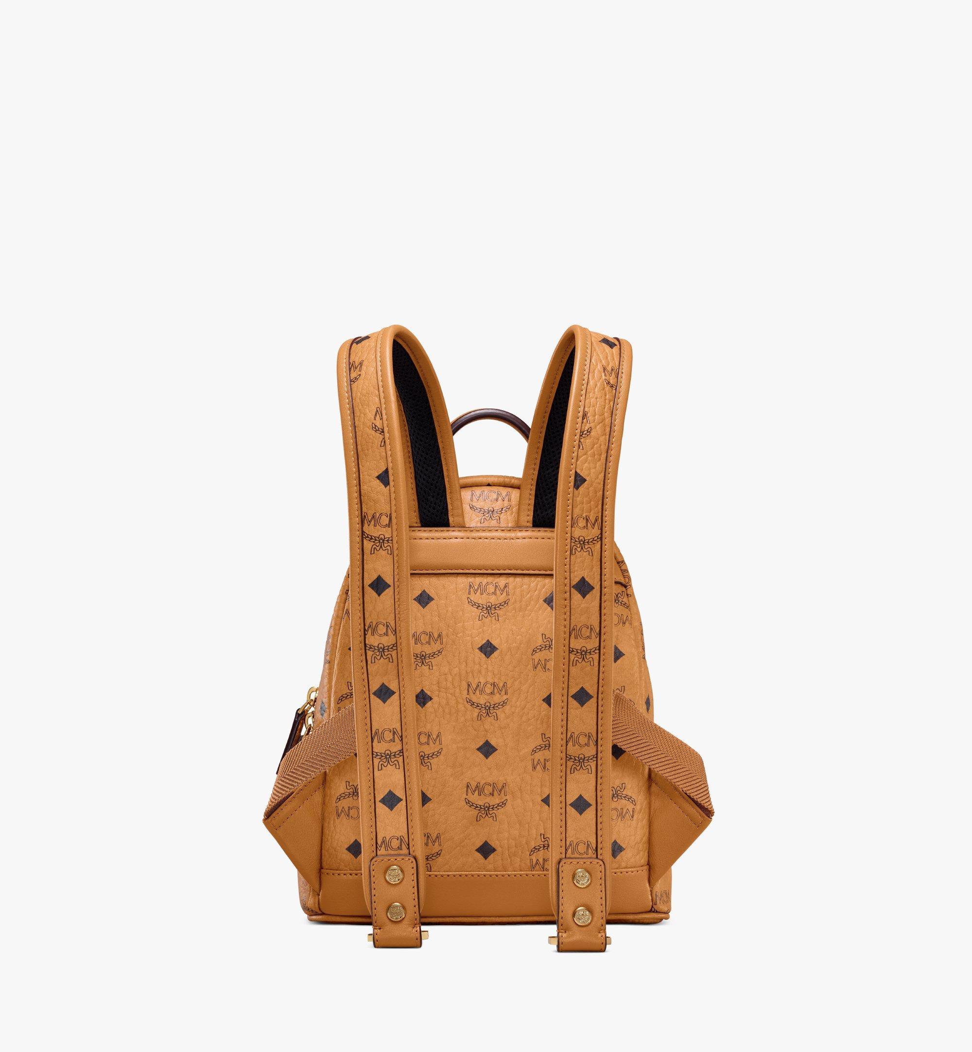 MCM Stark Side Studs Backpack in Visetos Cognac MMKAAVE10CO001 Alternate View 3