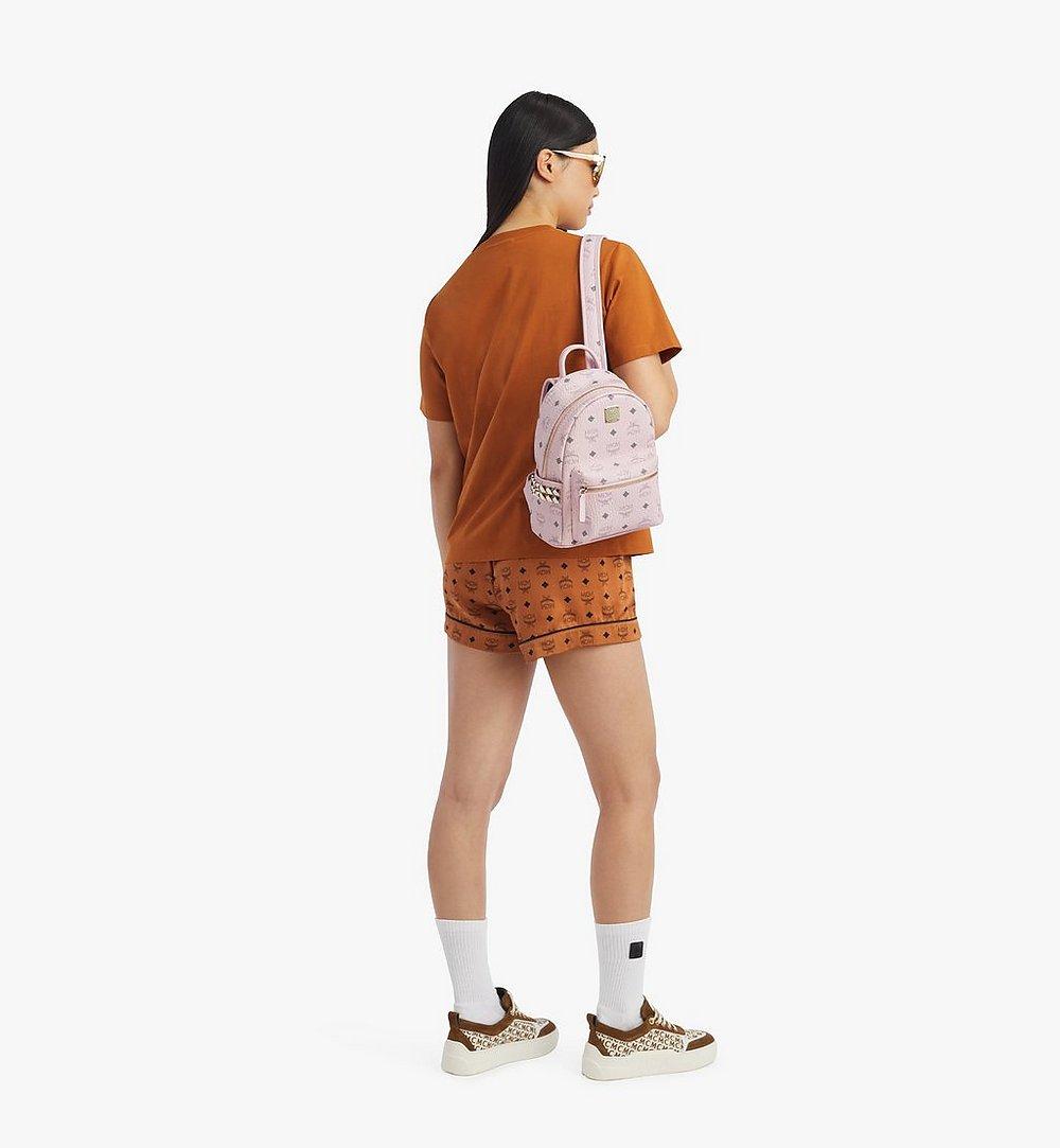 MCM Stark Side Studs Backpack in Visetos Cognac MMKAAVE10QH001 Alternate View 3