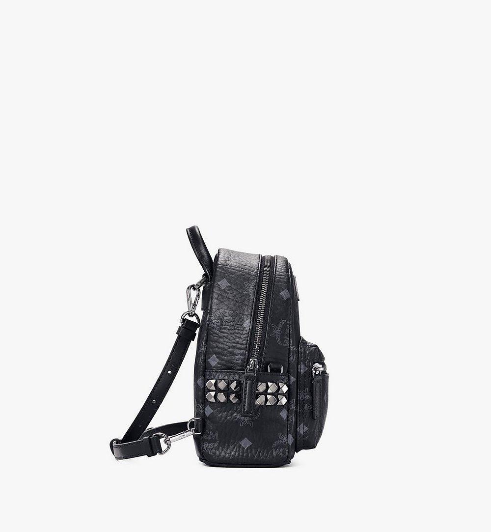 MCM Stark Bebe Boo Side Studs Backpack in Visetos Cognac MMKAAVE13BK001 Alternate View 1